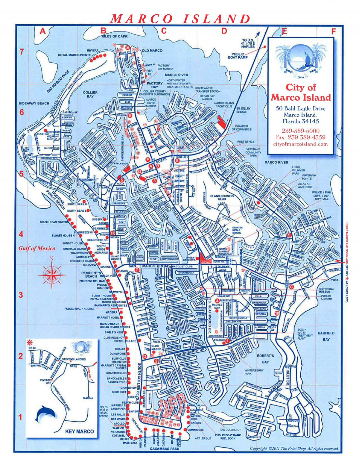 Map Of Marco Island Area City of Marco Island MAP | City of Marco Island Florida
