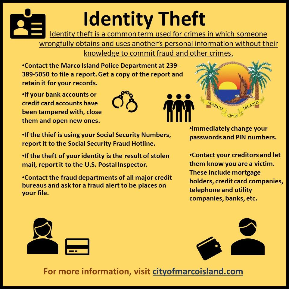 Identity Theft City Of Marco Island Florida